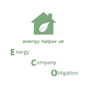 Image with the energy helper uk logo and energy company obligation